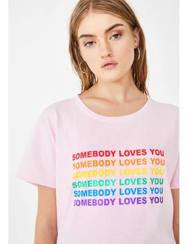 Somebody Loves You Graphic Tee by Daisy Street