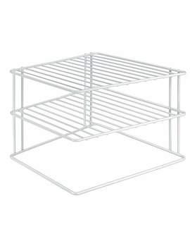Metaltex Silos Corner Plate Rack by Dunelm
