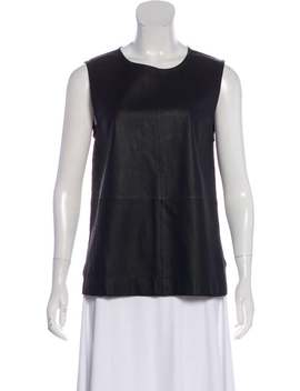 Leather & Silk Top by Equipment