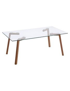 Morton Oak And Glass Coffee Table by Dunelm