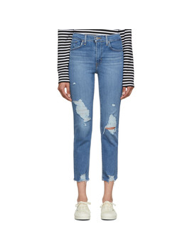 Blue 724 High Rise Straight Crop Jeans by Levi's