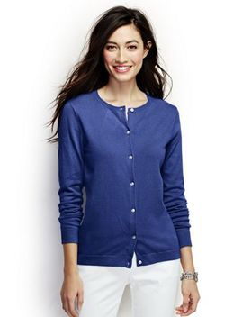 Women's Plus Size Performance Crew Cardigan Sweater by Lands' End