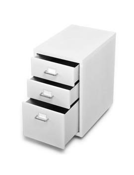 I Kayaa Metal Drawer Filing Cabinet Detachable Mobile Steel File Cabinets W/ 3 Drawers 4 Casters by I Kayaa