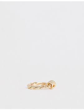 Asos Design – Goldfarbener Ring Im Verdrehten Knoten Design by Asos