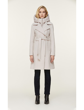 Perle Mixed Media Coat With Removable Bib And Hood by Soia & Kyo