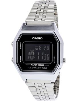 Women's La680 Wa 1 B Silver Stainless Steel Japanese Quartz Fashion Watch by Casio