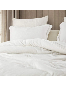 Coma Inducer Oversized Oversized Comforter   Wait Oh What   Farmhouse White by Byourbed