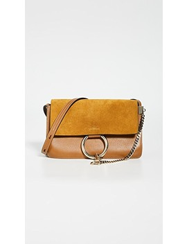 Chloe Brown Leather Suede Faye Small Bag by What Goes Around Comes Around