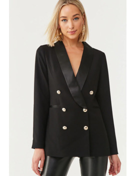 Double Breasted Buttoned Blazer by Forever 21
