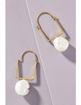 Cecilia Pearl Hoop Earrings by Anthropologie
