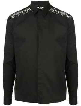 Formal Shirt With Lace Inserts by Haider Ackermann