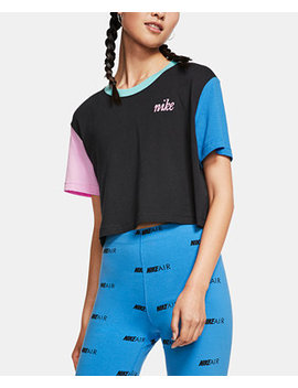 Sportswear Cotton Colorblocked Cropped T Shirt by General