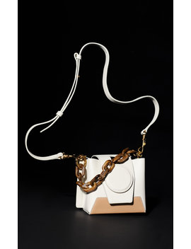 Daria Two Tone Leather Shoulder Bag by Yuzefi