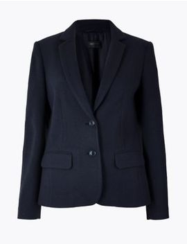 Flannel Jersey Blazer by Marks & Spencer