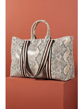 Greta Snake Printed Tote Bag by Anthropologie