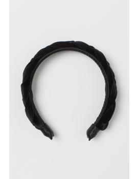 Braided Velvet Hairband by H&M