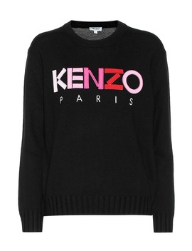Pullover In Lana Con Logo by Kenzo