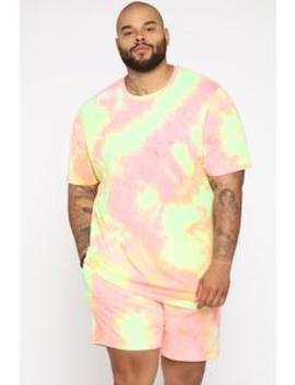 Mixed Feelings Tie Dye Tee   Pink/Combo by Fashion Nova