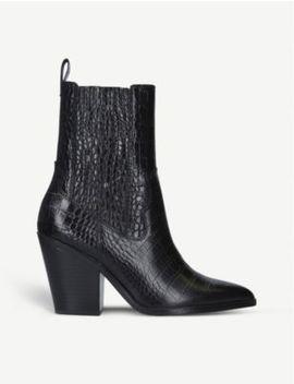 Drerissa Crocodle Print Ankle Boots by Aldo