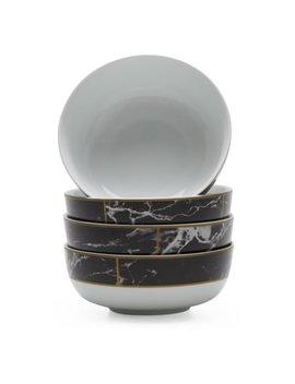 Mo Drn Glam Mason 4 Piece Bowl Set, Black by Mo Drn