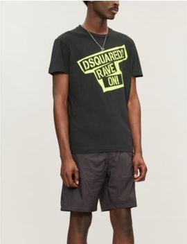 Rave On Cotton T Shirt by Dsquared2