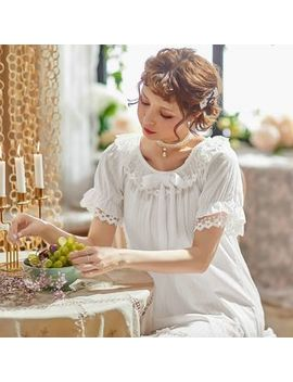 Mayonnaise   Lace Trim Short Sleeve Sleepdress by Mayonnaise