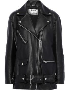 Oversized Leather Biker Jacket by Acne Studios