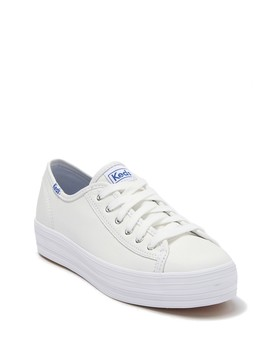 Triple Kick Leather Platform Sneaker by Keds