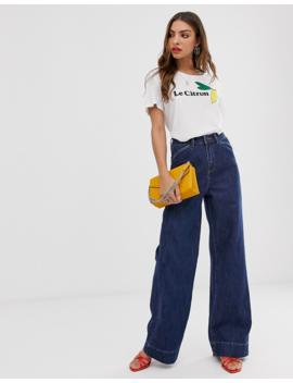Vero Moda   Jean Large à Taille Haute by Vero Moda