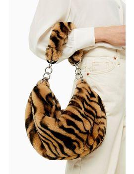 Florence Tiger Faux Fur Shoulder Bag by Topshop