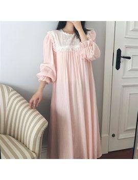 Ciambella   Frill Trim Long Sleeve Night Gown by Ciambella