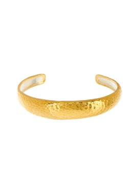 24 K Gold Plated Sterling Silver Hoopla Wide Cuff Bracelet by Gurhan