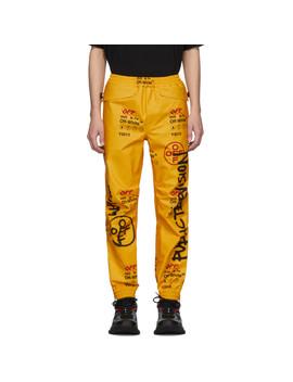 Yellow Goretex Lounge Pants by Off White