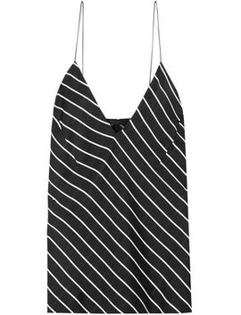 Striped Crepe De Chine Camisole by Haider Ackermann