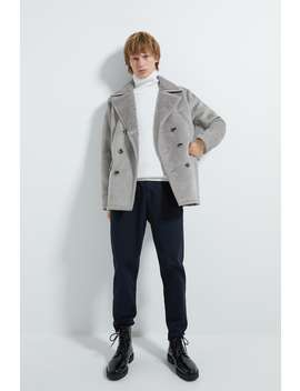 Double Breasted Double Sided Three Quarter Length Coat New Inman by Zara