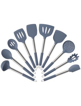 Mainstays 10 Piece Silicone Utensil Set   Blue Moonlight by Mainstays