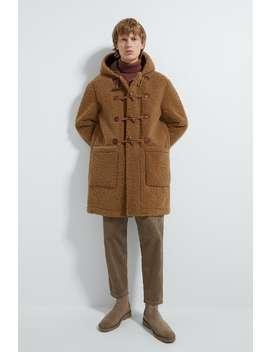 Hooded Three Quarter Length Fleece Coatouterwear Man by Zara
