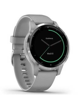 Garmin Vivoactive 4 S Gps Smart Watch   S Steel / Grey Band201/6580 by Argos