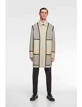 Plaid Patchwork Traveler Trench Coat Outerwearman by Zara