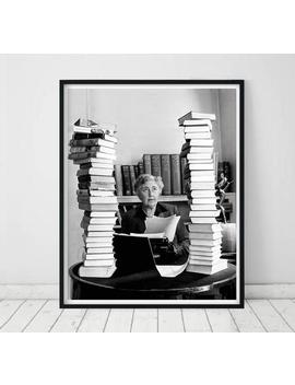 Agatha Christie Poster • Agatha Christie Photograph Writer Poster Agatha Christie Black And White Photo Print Agatha Christie Print Books by Etsy
