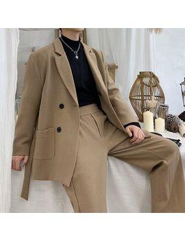 Bjorn   Set: Double Breasted Blazer + Dress Pants by Bjorn