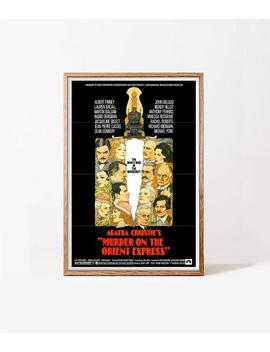 Murder On The Orient Express, Original 70's Poster, Download & Print Instantly, 1974 British American Mystery Film by Etsy
