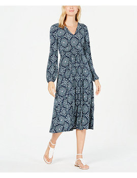 Printed Pleated Dress by General