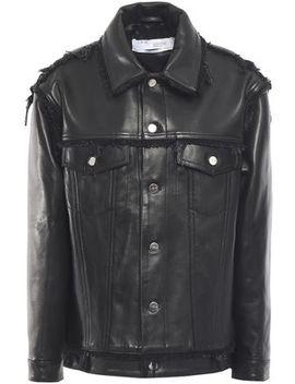 Else Fringe Trimmed Leather Jacket by Iro