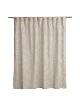 Natural And White Vine Katsura Shower Curtain by World Market