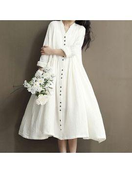 Ashlee   Maternity Plain Long Sleeve Dress by Ashlee