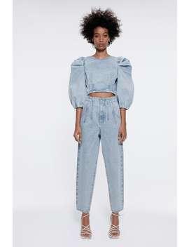 Jean À Taille Super Haute Ample Taille Haute Jeans Trf by Zara