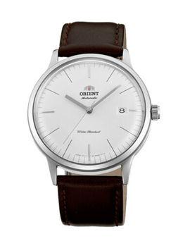 Orient Bambino Version 3 (V3) Fac0000 Ew0 Ac0000 Ew White Dial Minimalist 40.5 Mm by Orient