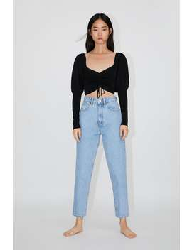 Jean Mom Fit Classic Mom Fit Jeans Trf by Zara