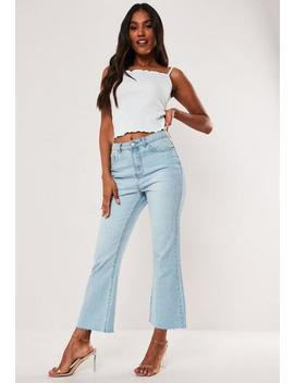 White Rib Lettuce Hem Cami Crop Top by Missguided